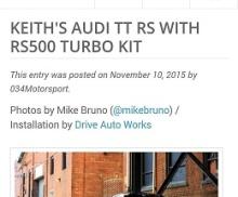 034Motorsport Turbo Kit