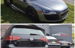 R8 and VW Golf R