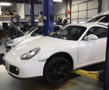 2011 Porsche Cayman exhaust install
