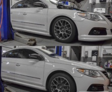 Adjust coilovers on VW CC