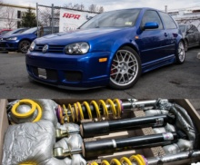 R32 in for KW coilovers!!!