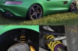 KW suspension install AMG GTS