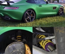 KW suspension install AMG GTS